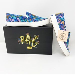 Keds x Rifle Paper Co Blue Floral Sneakers 7